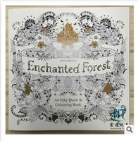 Wholesale Newest Enchanted Forest Coloring Book An Inky Quest Coloring Book by Johanna Basford Christmas Toy Gifts presents Dhgate