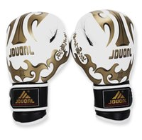mma gloves - Professional Leather Boxing Gloves Grappling MMA Gloves Punching Bag Fighting Mitts Training Protective Gear Colors