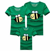 bee single - Fashion PC Bee Family Look Summer Cotton Children s T Shirt Short Sleeve Breathable Comfortable for Father Mother and Daughter Son