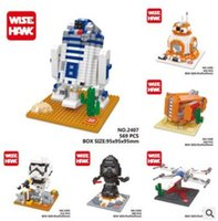 Wholesale Star Wars Toys Cartoon Mini building block The Force Awakens BB microparticles DIY puzzle assembled building blocks Figurine F123