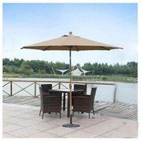 backyard umbrella - Outdoor Solar Round Umbrella Waterproof Cover Polyester Patio Parasols Vintage Design Fabric Backyard Sunshade Garden Parasol