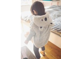 Wholesale Fashion Animal Style Gril Double faced Fleece Cape coat Baby Kids Clothing Winter Thicken Coats Girls Outwear Grey Colors