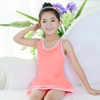 bathing suit material - 2016 New One piece Fashion And Lovely Children Nylon Material Comfort Children Close Skin Print Bow a Bathing Suit