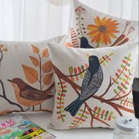 Wholesale Cute animal bird square throw pillow almofadas case x45 x53 nordic unusual trending cushion cover home decore