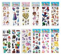 Wholesale 50 theme cartoon stickers The Avengers Minions Elsa Sofia Spiderman Batman Superman wall Decorative Stickers for kids cm