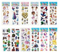 Wholesale 54 theme Cartoon D Puffy stickers toys Frozen patrol dog the Avengers superman sesame street minions childrens wall stickers home deco