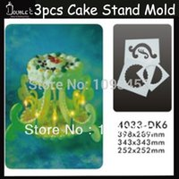 Wholesale SPECIAL Dinner Dessert Cake Stand Mold DIY Handmade Cupcake Tools Romantic Decoration User For Wedding Or Party