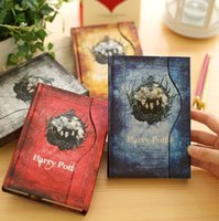 magnetic paper - The Harry Potter Magnetic Clasp Color Pages Vintage Notebook Stationery Diary book High Quality Notepad School Supplies Christmas gift