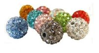 Wholesale 8mm Shamballa Disco Balls Clay Micro Pave Crystal Rhinestones Mix Colors Each Through Drilled Jewelry Making Beads