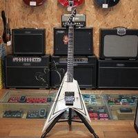 scythe - Ltd electric guitar alexi scythe fying v style white color