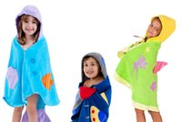 Wholesale Rocket Mermaid and Peach heart style Hooded Children s Bathrobe Baby Towel Modeling Baby pajamas bath robe Infant beach towel