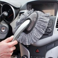 Wholesale Multi functional Car Duster Cleaning Dirt Dust Clean Brush Dusting Tool Mop Gray