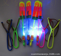 Wholesale Large sized sling arrows package mail flying led flash an arrow Light emitting toys rubber ejection