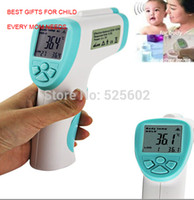 Wholesale 2015Updated version Non Contact Body Infrared Thermometer Digital Termometer Baby Kid IR Termometro Infravermelho Gun Meter