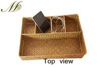woven basket - Natural Seaweed Woven Desk Basket