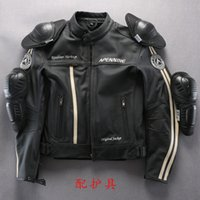 leather motorcycle racing jackets - 2015 Man Motorcycle Genuine Leather Jacket Black cool Racing suits motorcycle clothing Professional racers Cycling Jersey