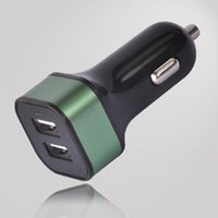 Wholesale 2016 hotselling brand new A black surface color square shape DUAL USB car charger for car Conveniently colors to choose