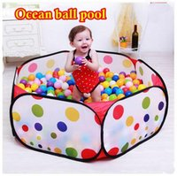 Wholesale 90CM KID PORTABLE FOLDING OUTDOOR INDOOR PLAY GAME HOUSE CHILDREN POP UP TENT BALL PIT TOYS BALLS FOR POOL CHILDREN S PLAYPEN