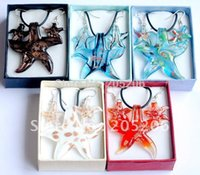 Cheap Wholesale-Summer Hot Selling,Lampwork Glass Jewelry Set Murano Glass Necklace Earrings Jewelry set,5 sets lot lampwork necklace &