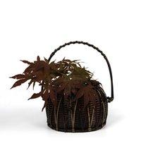 bamboo basket weaving - Bamboo Flower Vase For Home Decoration round Handmade Weave Crafts Storage Basket Wedding Decoration Gift