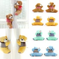 Wholesale High quality Pair New window curtain hook tieback cute bear Curtain buckle hangers belt colors