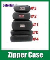 Wholesale Electronic cigarette ego zipper case E Cigarette Zipper Pouch Bag for ce4 ce5 mt3 atomizer evod battery ego cigarette kit FJ003