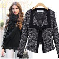 Wholesale Europe autumn Korean New Women s self cultivation sweater cardigan coat lapel Dress Small