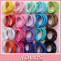 color rubber hair bands - SALE Fashion elastic hair bands for women Candy Color baby girl kids hairbands headwear hair accessories Rubber Bands mix color