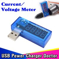Wholesale New Hot Mini Digital Digit Display USB Power Current Voltage Meter Tester Portable Volts Detector Charger Doctor Voltmeter