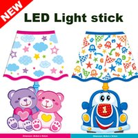 Wholesale Stickers For Walls China - wholesale lights Wall Lights Toys Figures Led Christmas Lights Birthday Gifts for Childs Lighting Sticker China Supplier Night Lights