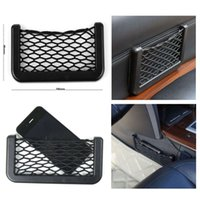 Wholesale HQ Car Seat Side Back Storage Net Bag Phone Holder Pocket Organizer