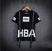 Wholesale Men Fashion Hip Hop T Shirt Zipper Side HBA Hood By Air Harajuku T shirts Spinal Cord X ray Streetwear Tees HIGHT QUALITY