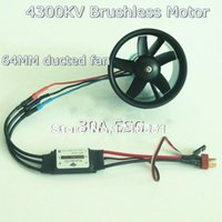 rc plane ducted fan - Blade mm Outrunner Ducted Fan KV Brushless Motor A ESC for lipo RC Jet EDF plane Airplane Fan