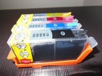 Wholesale dye ink cartridge with ARC chips for HP KCMY for HP photosmart B109a B109n B110a B209a