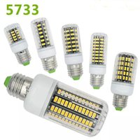 Wholesale 2016 New Arrival E27 E26 E14 GU10 G9 B22 LED Light Office Corn Bulb SMD W W W W W W LEDs With Cover degree Warm White