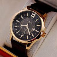 Cheap Fashion Casual Men CURREN Brand Wristwatches Japan Movement Quartz Watches Gentleman Big Dail With Calendar Colck Hours