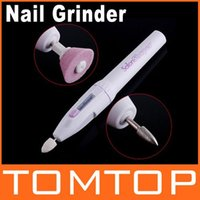 Wholesale Electric Nail Grinder Mini Cordless Nail Art Drill Tools Polisher Salon Shaper Machine Dropshipping order lt no tr