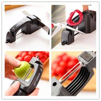 Wholesale New Creative Multifunctional Peeler dual grinding mouth sharpener kitchen tools black colors