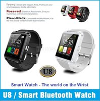 All Compatible Multi Language Wearable U8 Watch Bluetooth Smartwatch Smart Wrist Watch For iPhone 4 4S 5 5S Samsung S4 Note 3 HTC Smartphone Android Phone