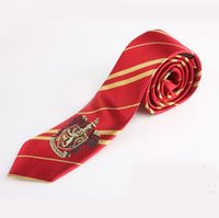 active label - Harry Potter Neck Tie with Label Gryffindor Hufflepuff Slytherin Ravenclaw Cosplay Performing props Costume Gift Colors Drop Shipping