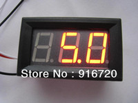 Wholesale 100pcs digits quot wire DC V red led digital voltmeter Voltage display module with reverse protection