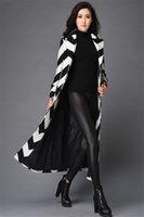 alpaca fur coats - 2015 Newest original Suit collar black and white color wool long thick coat Extended winter women s alpaca fur coat
