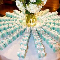 beautiful bridal shower - Beautiful and Elegant PC Blue Wedding Favor Boxes Party Candy Box Bridal Shower Gift Box