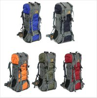 Wholesale 60L large men women backpack for travel climbing outdoor camping bag mountaineering bag mountain bag hiking