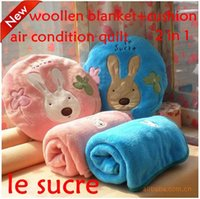 air free woollen - le sucre air condition quilt woollen blanket cushion in quilt cushion