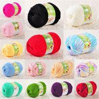 achat en gros de vêtements de fil-Hot Sales tissu tissu super doux à tricoter laine mélangent fils acrylique 50g ball PX189 Livraison gratuite