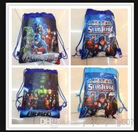 Wholesale 12pcs drawstring bags The avengers a Cartoon backpack handbags children school bags kids shopping bags present