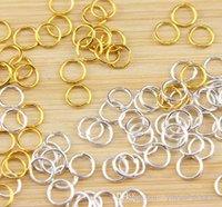 Joyería de la joyería de la parte conclusiones multi-uso de la joyería de la manera Accesorios para las pulseras del collar 6x0.8mm latón chapado en oro componentes 1000pcs / lot