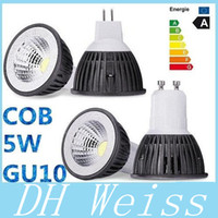 GU10 LED Ampoules COB 5W MR16 E27 E26 Dimmable Warm / Cool White LED Projecteurs Bulb plafond Saving lampe New 110-240V CE ROHS