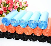 Wholesale 2 rolls strong and heavy multi color rubbish trash garbage bags thick eco friendly